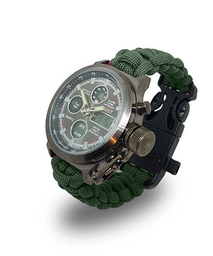 Paracord Watch with The British Army Colours For the Strap a Great Gift