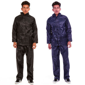 Mens Outdoor Rain Suit Jacket & Trouser Waterproof Windproof ...