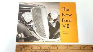 1933-FORD-Original-Part-Color-Dealer-Folder-Good-Condition-US