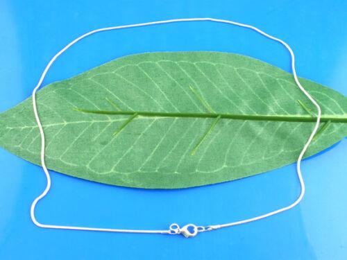 Versilbert Halskette Schenkette Karabinerverschluss 46cm LP