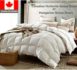 Canadian Hutterite or Hungarian White Goose Down Duvet Comforter