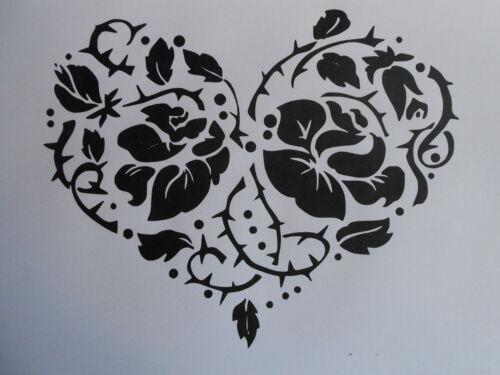 Schablone Blumenherz1 auf A4