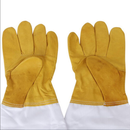 1 Pair Protective Bee Keeping 50cm Vented Long Sleeves Goatskin Glove SturdyL!Y