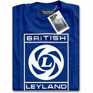 NEW British Leyland Logo Vintage Classic Motoring Cars Mens Blue TShirt XS - 3XL