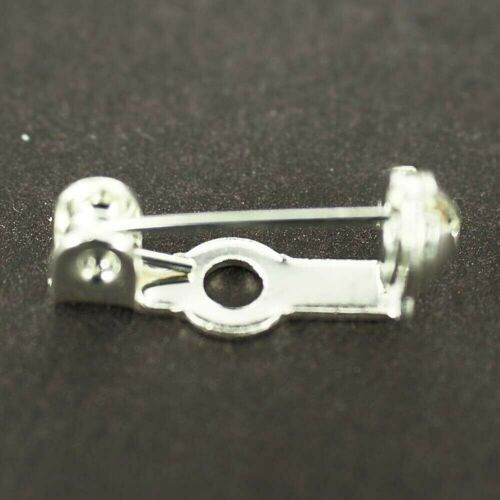 "safety Catch Straight Bar Brooch Backs Pins 0.5/"" 15mm Craft Jewellery BR05"