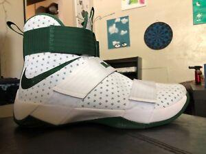8493f265947 Nike LeBron Soldier 10 X 856489-130 White Green Size 17 Retail  130 ...