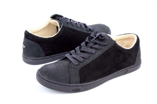 d95796a5ea2 UGG Women's Karine Snake Sneaker 7 M Black Nubuck
