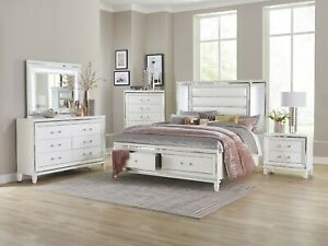 4 Pc White Mirrored Led Lights Queen Storage Bed Ns Dresser Bedroom Furniture Ebay,United Airlines Baggage Policy Economy