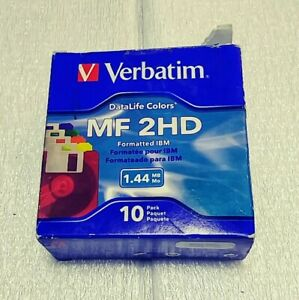 "Verbatim Datalife 3.5/"" Floppy Disks 10 Pack MF-2HD DS//HD 1.44MB NEW Shrink Wrap"