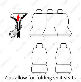 green Car seat covers full set fit Toyota Land Cruiser charcoal grey