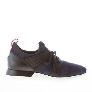 MONCLER-herren-schuhe-Emilien-leichte-sneaker-blau-wildleder-schwarz-gummi