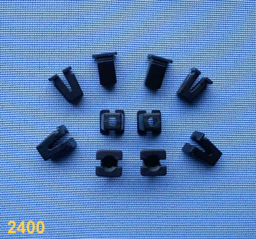 10x Carénage Clips Fixation Colliers Support Clip Universel 7 mm Noir 116 A