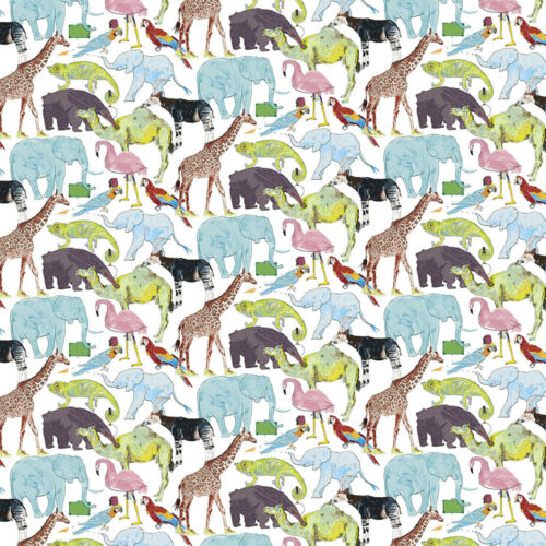Liberty ~ Cola para el zoológico Tana Césped Tela//Acolchar confección Elefante