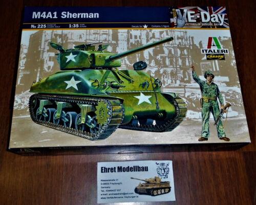 WWII amerikanischer Tank Panzer Sherman M4A1 Figur 1:35 Italeri 225 Neu