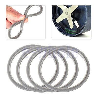 4X Gray Replacement Rubber Gasket Seal Ring for Nutri Bullet Nutribullet 900W DT