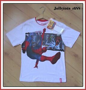 Boys Kids Children Spiderman Short Long Sleeve Tee T Shirt Top Age 4-10 years