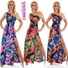 Sexy One-Shoulder Floral Print Maxi Dress AU SIZE 6 8 10 ( US 2 4 6 ) XS S M