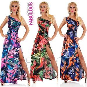 Sexy-One-Shoulder-Floral-Print-Maxi-Dress-AU-SIZE-6-8-10-US-2-4-6-XS-S-M