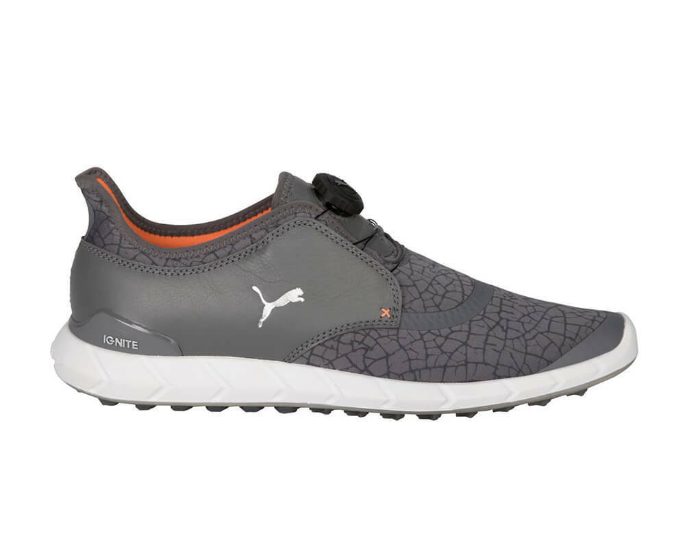 Puma Ignite Disc Extreme Golf Shoes - 190169-03 Smoked Pearl/Silver Men's - Shoes New 13b34f