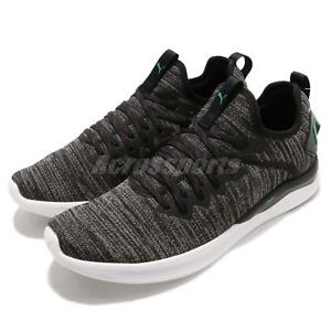 on sale de5f2 ae6b8 Details about Puma Ignite Flash EvoKnit Lewis Hamilton Black Green Men  Training Shoe 190508-14