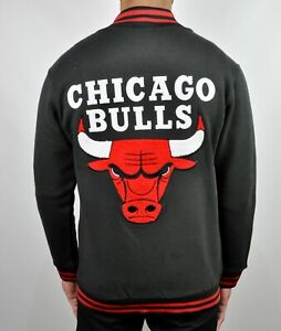 CHICAGO-BULLS-NBA-Varsity-Jacket-Jumper-Black