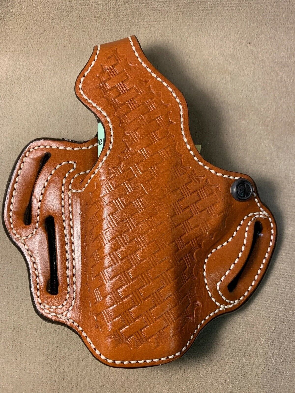DeSantis Thumb Break Lined Holster - LH Tan For S&W Sigma CPT 9 40 9G 40G