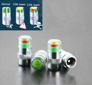 4x-Car-Tyre-Valve-Stem-Caps-with-Pressure-Indicator-Monitor-Sensor-bike-36PSI