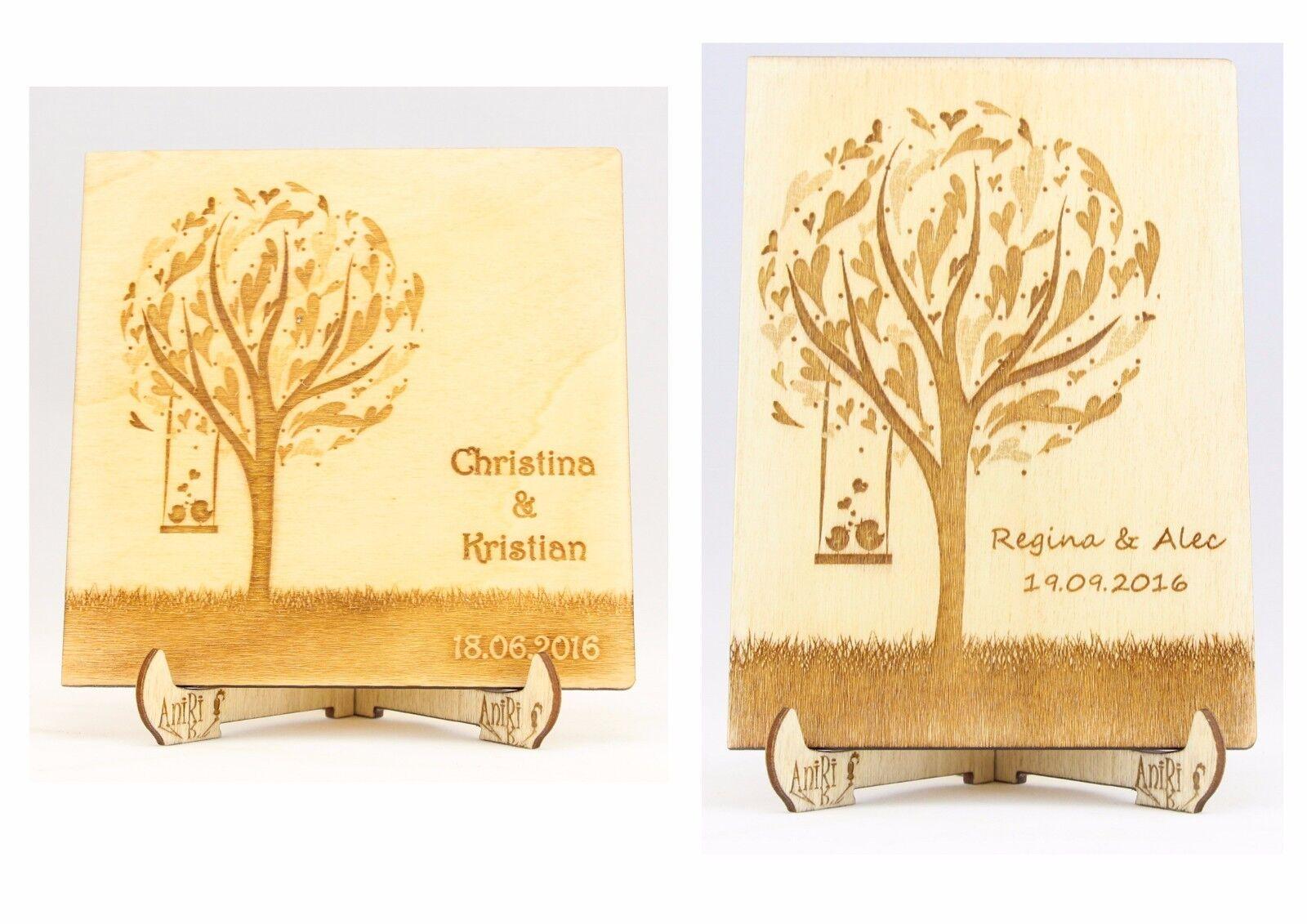 Personalisiert Gästebuch, Hochzeit, Holzgästebuch, Wedding, Hochzeitsbaum, Holz