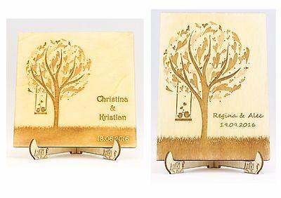Baum Holz 30x21cm Gästebuch Dekobaum Holzbaum Namenskarten Hochzeit Platzkarten