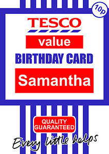 Personalised tesco value funny birthday any occasion card ebay image is loading personalised tesco value funny birthday any occasion card bookmarktalkfo Images