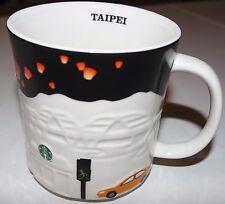 Starbucks Coffee Mug Taipei Relief Series City Mug Black Trim 16oz Taiwan 2013