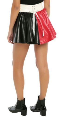 DC Comics faux Leather Harley Quinn PU Skirt Tutu cosplay Costume S//M L//X