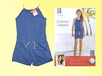 98-116 Mädchen Sommer Overall Jumpsuit Anzug Einteiler Gr