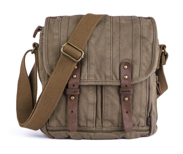 Gootium Vintage Canvas Messenger Bag Small Unisex Shoulder Satchel ... 030ac05339dc8