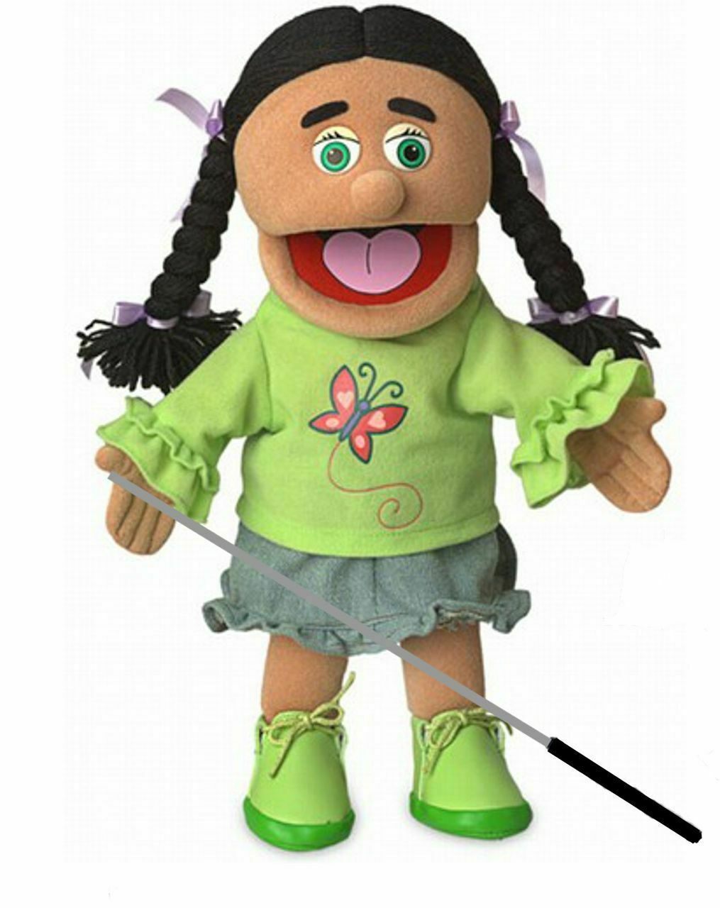 Silly Puppets Jasmine Puppet Bundle 14 inch with Arm Rod