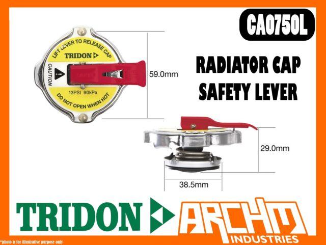 TRIDON CA0750L - RADIATOR CAP - SAFETY LEVER - STANDARD BAYONET CA 7 PSI 50 KPA