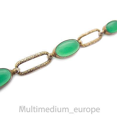 Neue Mode Jugendstil Silber Armband Achat Grün 800 Silver Bracelet Green Agate ???????????????????? Hohe Belastbarkeit