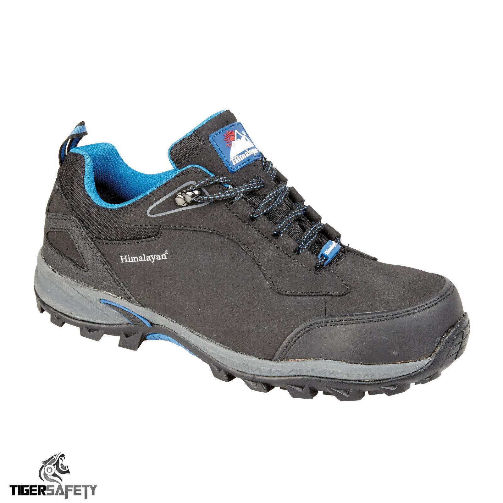 Himalayan 4039 S1P SRC Noir Leather Steel Toe Cap Sports Safety Trainers Chaussures