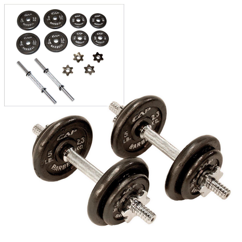 Cap Barbell 40 lb (environ 18.14 kg) Réglable Exercice Entraînement Poids Plaques presse musculation set