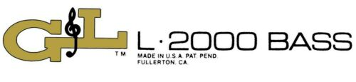 Two G/&L L-2000-bass Waterslide Headstock Decals