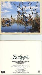WOOD-DUCKS-MARSH-REFLECTIONS-AUTUMN-NOTE-CARD-1-GARDEN-BOTANICAL-FLOWERS-CARD