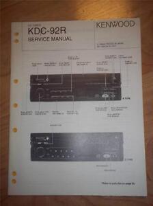 kenwood service manual kdc 92r cd tuner player car audio original rh ebay com Denon CD Player Repair CD Player Repair Parts