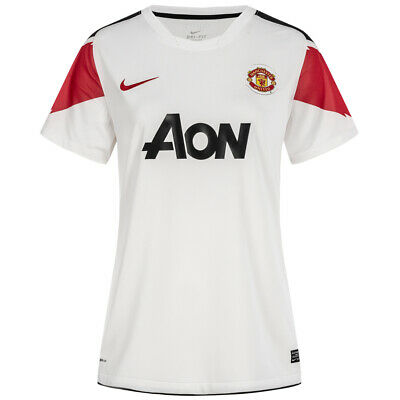 Manchester United FC Nike Womens Away Soccer Jersey 382487 105 White NEW | eBay