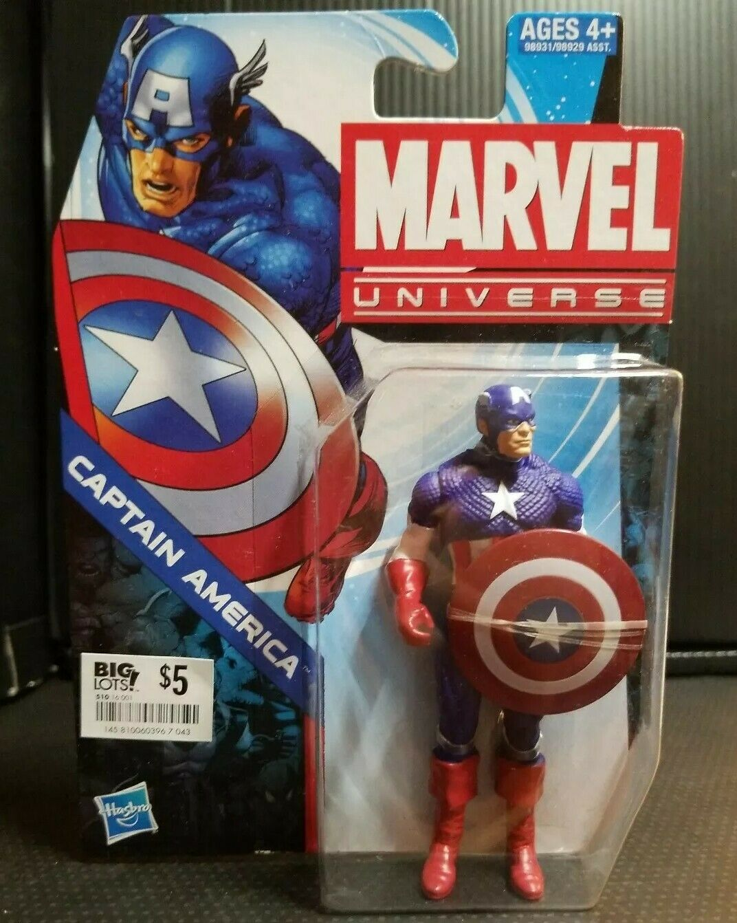 environ 10.16 cm 4 in Marvel Universe Captain America action Figure by Hasbro 2011-Comme neuf on Card