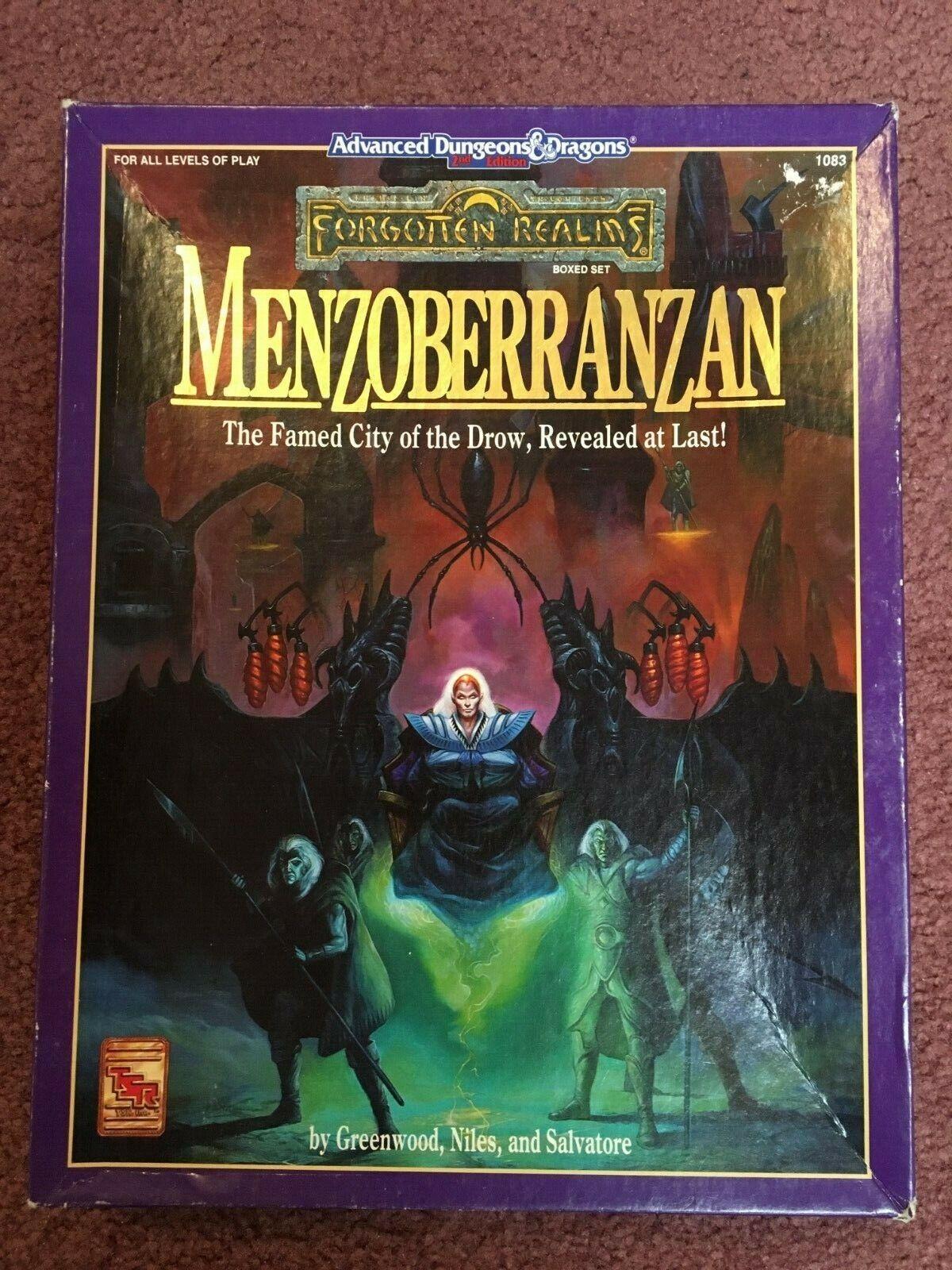 AD&D 2nd Edition 2E Menzoberranzan Box Set Complete Dungeons & Dragons VF+