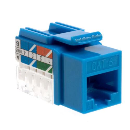 20 lot Keystone Jack Cat6 Blue Network Ethernet 110 Punchdown 8P8C RJ45