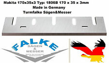 6 Stück Makita 1806B Hobelmesser HSS 170x35x3