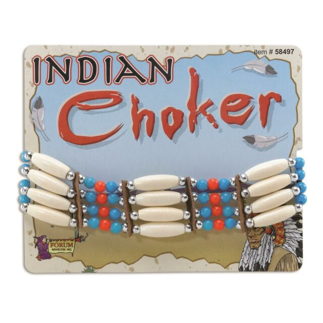 Native American West Red Indian Choker Necklace Fancy Dress Wild Accessory