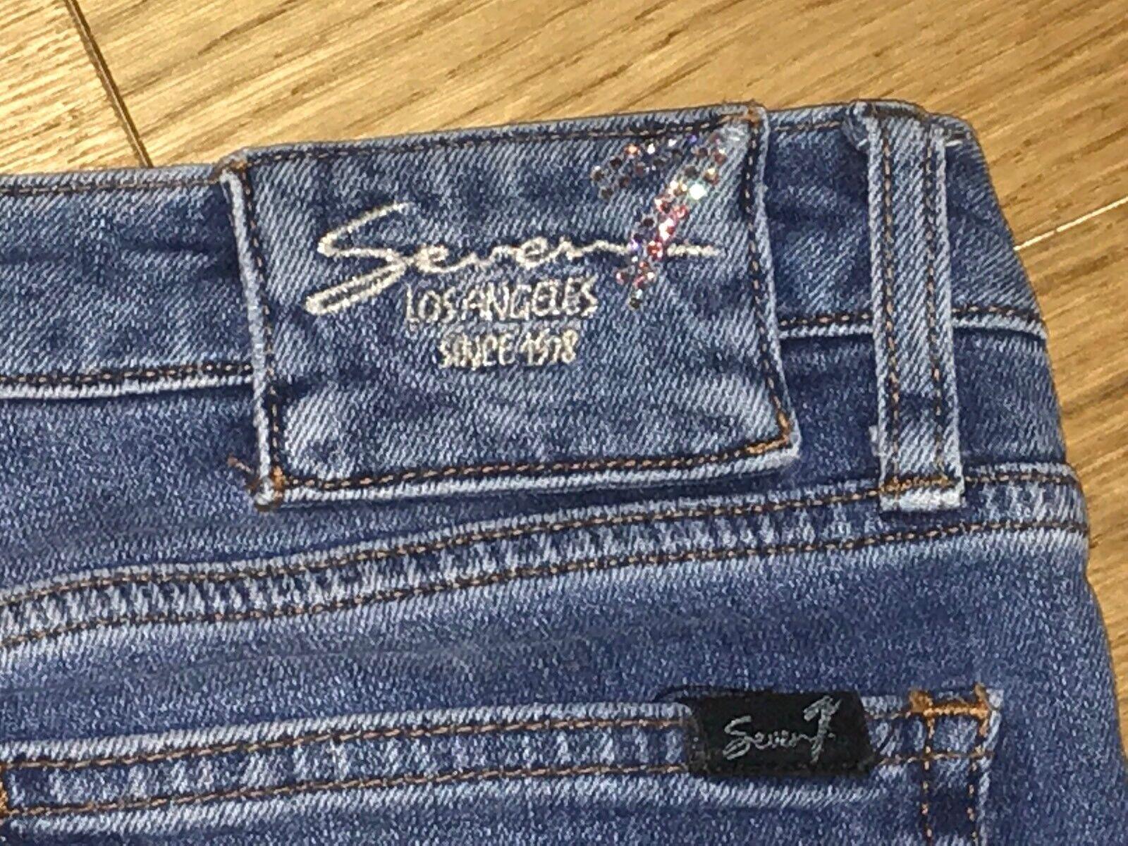 Seven for all mankindsuper mankindsuper mankindsuper Damen Jeans mit GlitzerapplikationenGr.34blau | Fierce Kaufen  8901c9