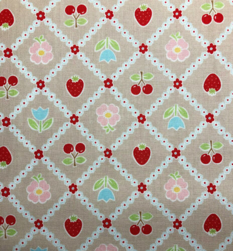 Riley Blake Bake Sale Fabric C3432 100/% Cotton Gray //Taupe Retro Kitchen Print